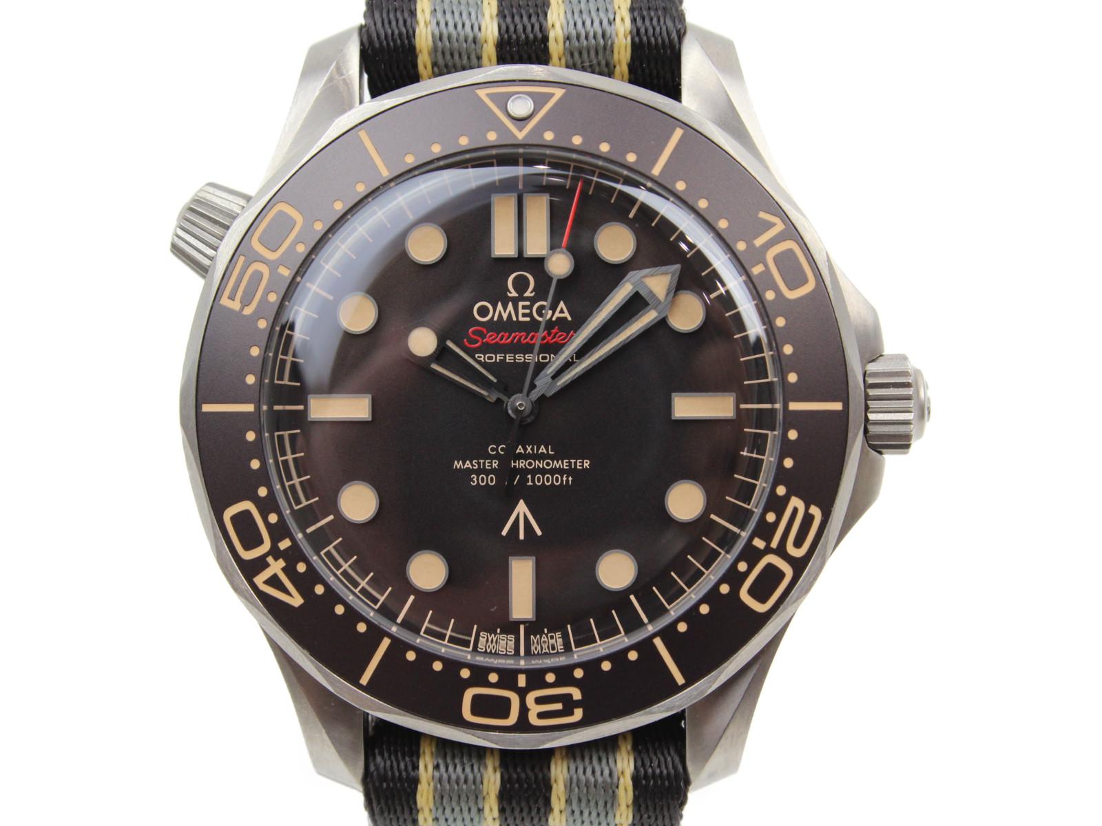 【007エディション】OMEGA オメガ シーマスター コーアクシャル マスター クロノメーター 自動巻き チタン ブラウン メンズ 腕時計【中古】