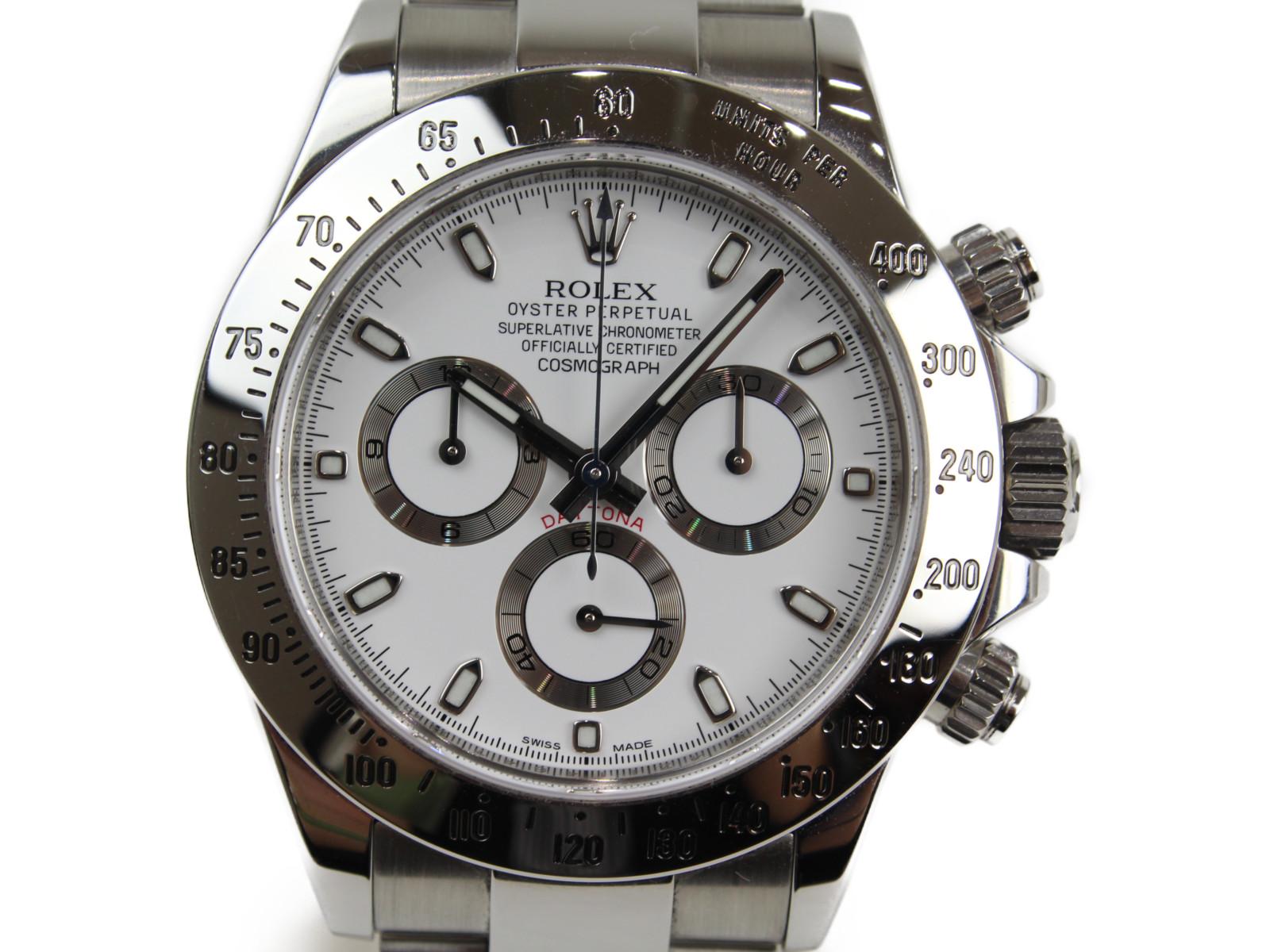 【ギャラ有】ROLEX ロレックス デイトナ 116520 自動巻き ランダム クロノグラフ SS ホワイト メンズ 腕時計【中古】
