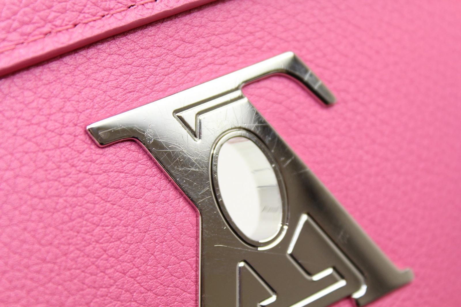 LOUIS VUITTON ルイ ヴィトンロックミー2BB 限定カラーカーフレザー ピンク×カーキ×ベージュハンドバッグ ショルダーバッグgybf6Y7