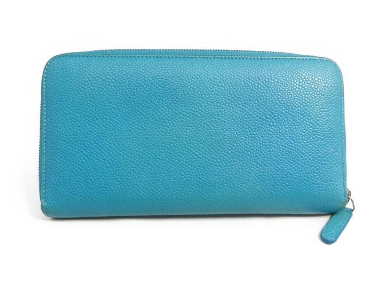 fe1bc96f2fd0 CHANEL シャネル ココマーク ラウンドファスナー長財布 レディース ブルー レザー 【】 この商品はかんてい局盛岡店から発送いたします。
