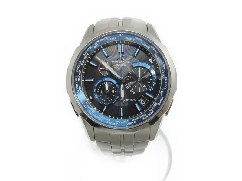 CASIO ソーラー腕時計 OCEANUS OCW-S1400 オシアナス【中古】