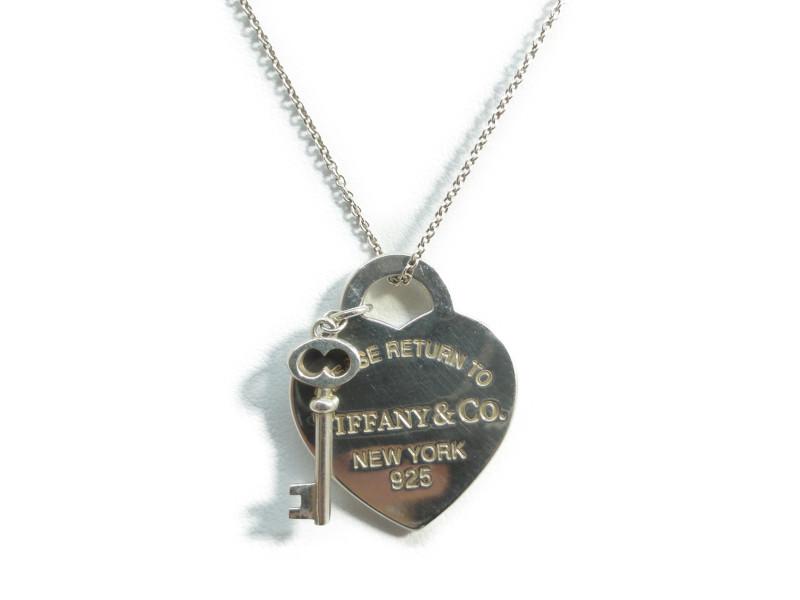 この商品はかんてい局盛岡店から発送いたします Tiffany Co ティファニー リターントゥティファニー ハートタグ 正規品 キー 正規取扱店 SV925 ペンダント ネックレス シルバー 中古 ミディアム