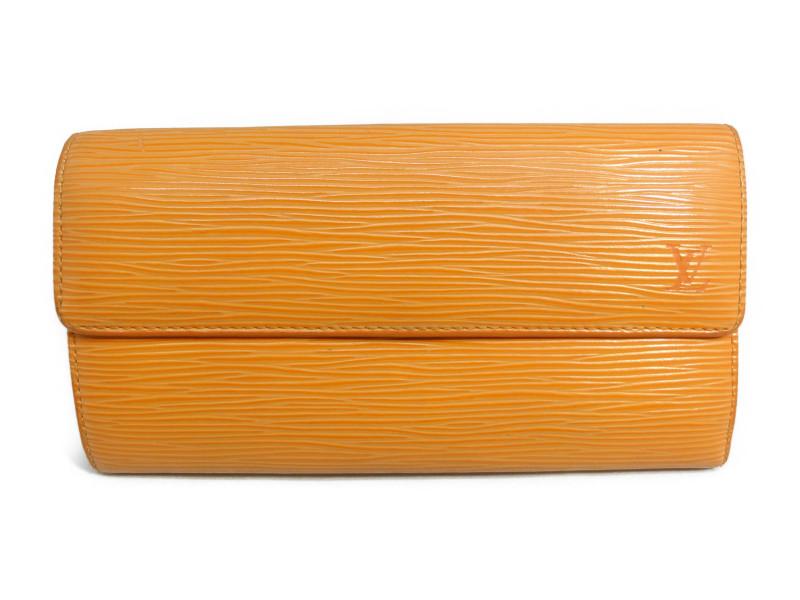 LOUIS VUITTON ルイヴィトン エピ ポルトフォイユ・サラ ピモン(オレンジ系) 長財布【中古】