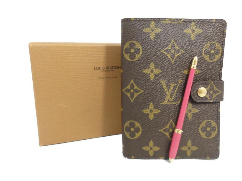 【送料無料】LOUIS VUITTON ルイ・ヴィトン R20005 アジェンダPM モノグラム ボールペン付き 手帳【中古】