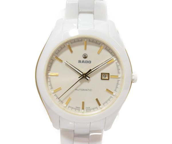 【RADO】 ラドー ハイパークローム 白セラミック 580.0257.3 自動巻き 男女兼用 腕時計 【中古】
