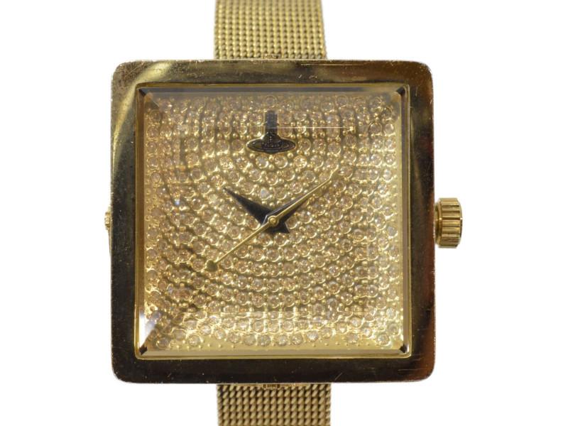 Vivienne Westwood ヴィヴィアンウエストウッド VV053GDGD 腕時計 レディース ゴールド×ラインストーン ステンレス クオーツ【中古】