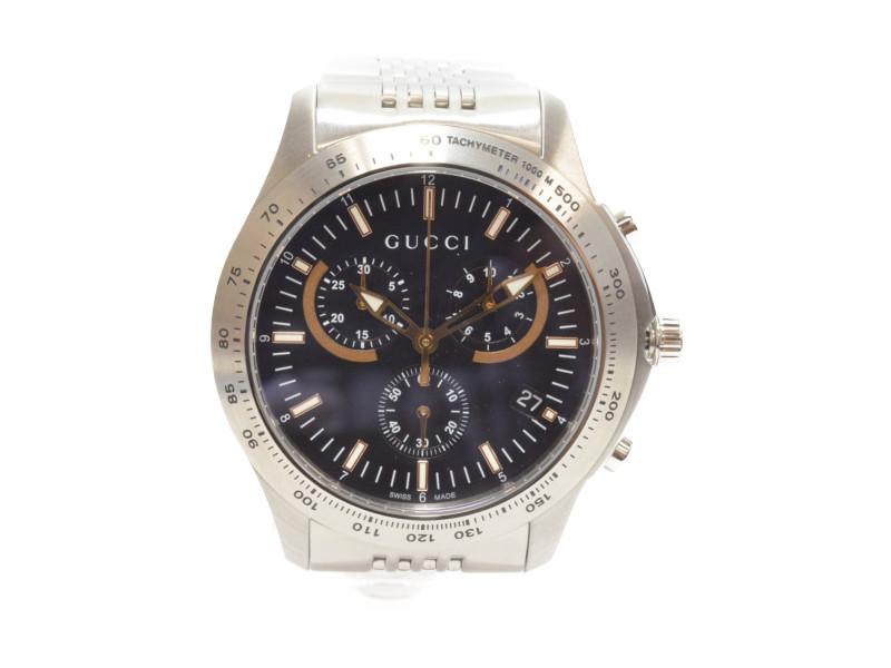 GUCCI】 グッチ 126.2 YA126257 Gタイムレスクロノ メンズ 腕時計 クオーツ 【中古】