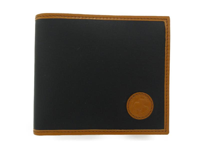 HUNTINGU WORLD ハンティングワールド 二つ折り札入れ 財布 ブラック/ブラウン 黒 茶 メンズ【中古】