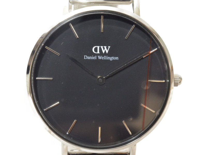 DANIEL WELLINGTON ダニエルウェリントン レディース 腕時計 ブラック シルバー 【中古】