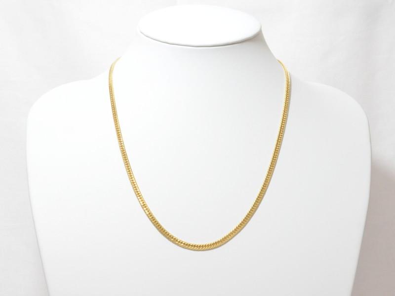 K18 6面ダブル喜平 キヘイ 20.1g 50.5cm ネックレス ゴールド 【中古】