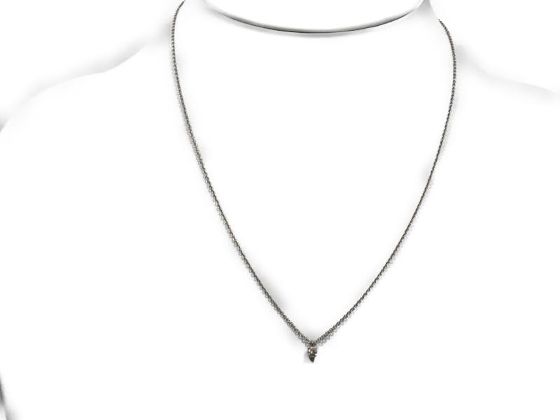 TIFFANY&Co.ティファニー ソリティアダイヤモンドネックレス 1粒ダイヤ 1ポイント Pt950ネックレス レディース 【中古】