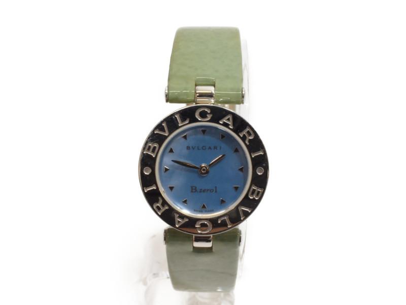 BVLGARI ブルガリ B.zero1 腕時計 BZ22S ブルーシェル レディース エナメルベルト 【中古】