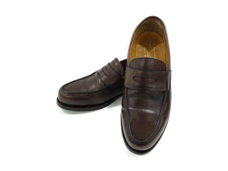 UNITED ARROWS ユナイテッドアローズ コインローファー ブラウンカーフ 革靴 【中古】