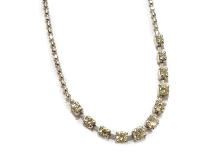 Pt850 プラチナ ダイヤモンド付きブレスレット D0.300 シルバー 20cm レディース【中古】