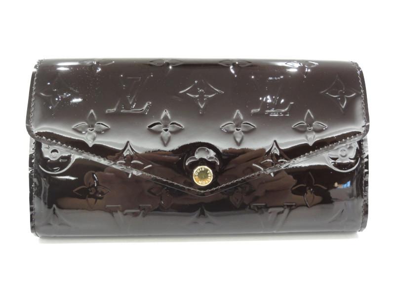 fad7599afe71 LOUIS VUITTON ルイヴィトン M90152 ポルトフォイユ·サラ ヴェルニ アマラント パープル レディース 長財布 【】 この商品はかん てい局盛岡店から発送いたします。