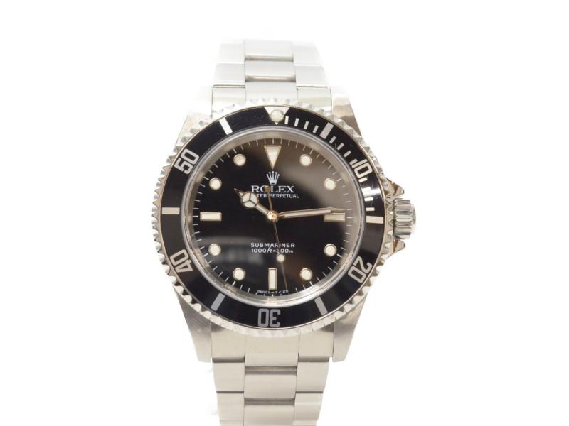 ROLEX ロレックス 14060 X番 サブマリーナノンデイト  自動巻き時計 OH 仕上済 ギャラ有 【中古】