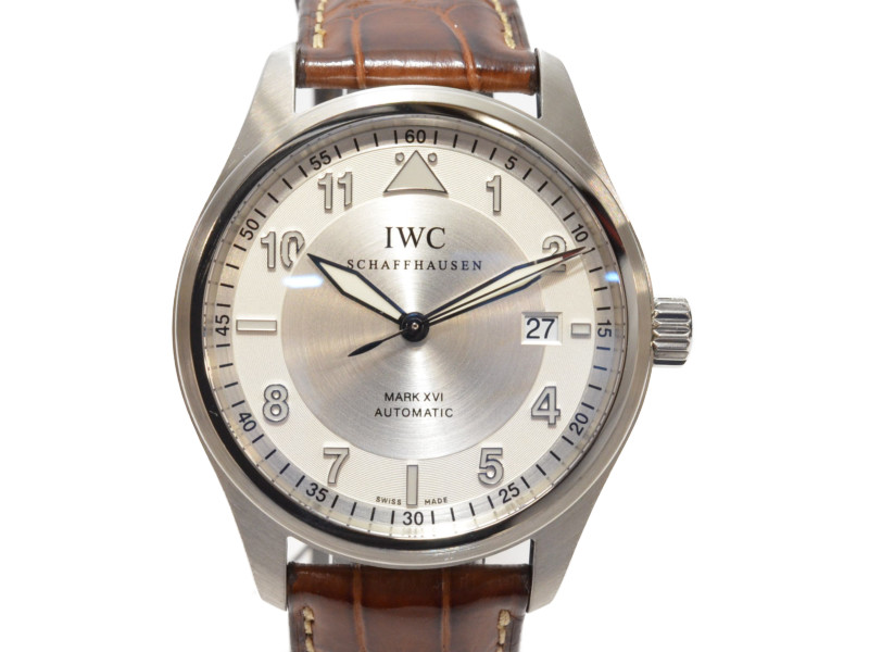 IWC IW325502 スピットファイア マーク16 自動巻き 箱/ギャランティー/取説あり OH・仕上済  メンズウォッチ 【中古】