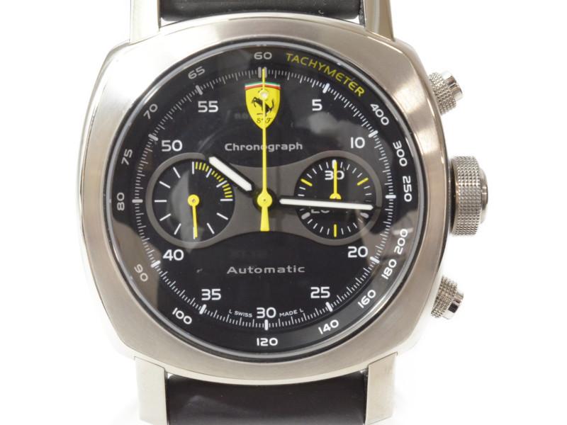 【PANERAI】 パネライ ルミノール フェラーリ スクーデリア クロノグラフ FER00008 自動巻き メンズ 腕時計 【中古】