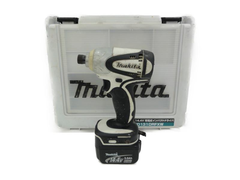 Makita マキタ 14.4V インパクトドライバー TD131DRFXW ホワイト 工具 DIY 【中古】