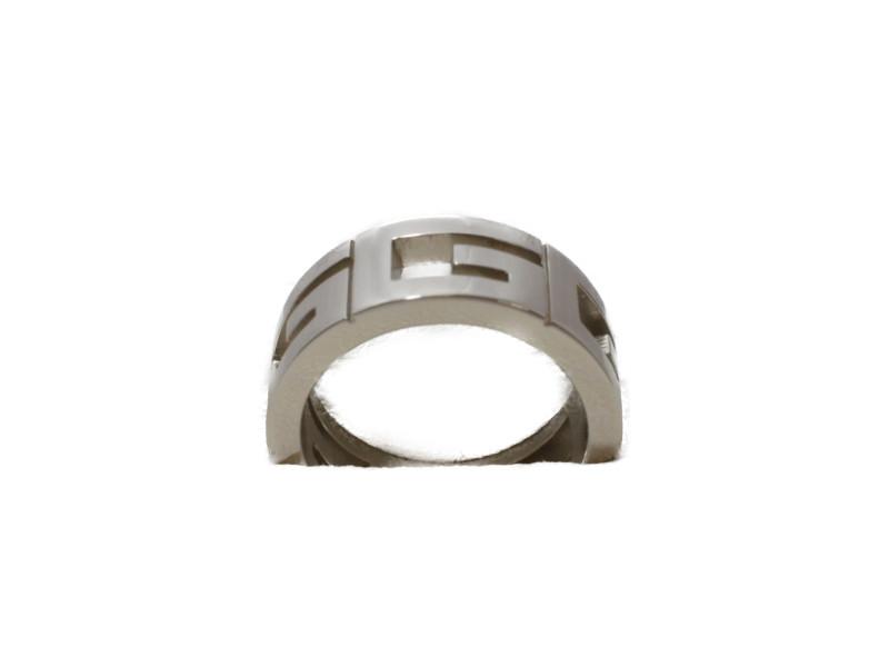 GUCCI グッチ マルチプルリング 7号 K18WG ホワイトゴールド 指輪 【中古】