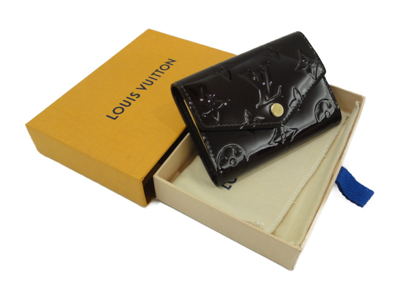 LOUIS VUITTON ルイヴィトン M90902 ミュルティクレ6 6連 キーケース ヴェルニ アマラント レディース メンズ 【中古】