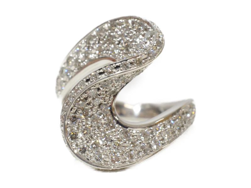 Pt900 プラチナ ダイヤモンド FD1.00ct デザインリング 指輪 シルバー 11号 レディース【中古】
