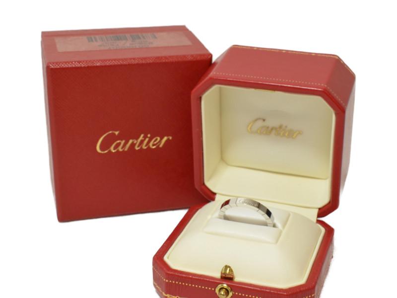 CARTIER カルティエ B4045058 ラニエールリング 指輪 K18WG 750 ホワイトゴールド 58 17.5号 箱、証明書つき【中古】