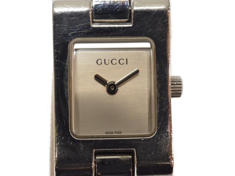 GUCCI グッチ 2305L クオーツ時計 ブレスレット ステンレススチール シルバー レディース【中古】