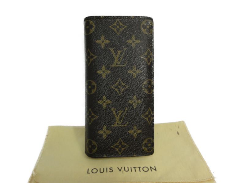 LOUIS VUITTON ルイヴィトン M66540 モノグラム ポルトフォイユ・ブラザ 長財布 ブラウン 茶 メンズ レディース【中古】