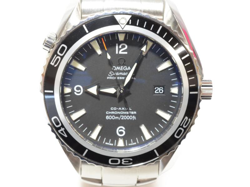OMEGA オメガ 2200-50 プラネットオーシャン 黒文字盤 ステンレスベルト コーアクシャル 自動巻き オートマ メンズ 腕時計 【中古】