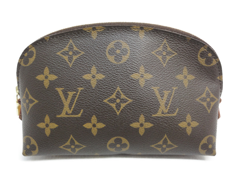 LOUISVUITTON ルイヴィトン M47515 モノグラム ポシェットコスメティックス 化粧ポーチ ブラウン 茶 レディース【中古】