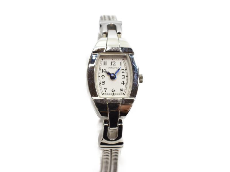 HAMILTON ハミルトン H31111183 アメリカンクラシック クオーツ時計 ステンレススチール シルバー/ホワイト レディース【中古】