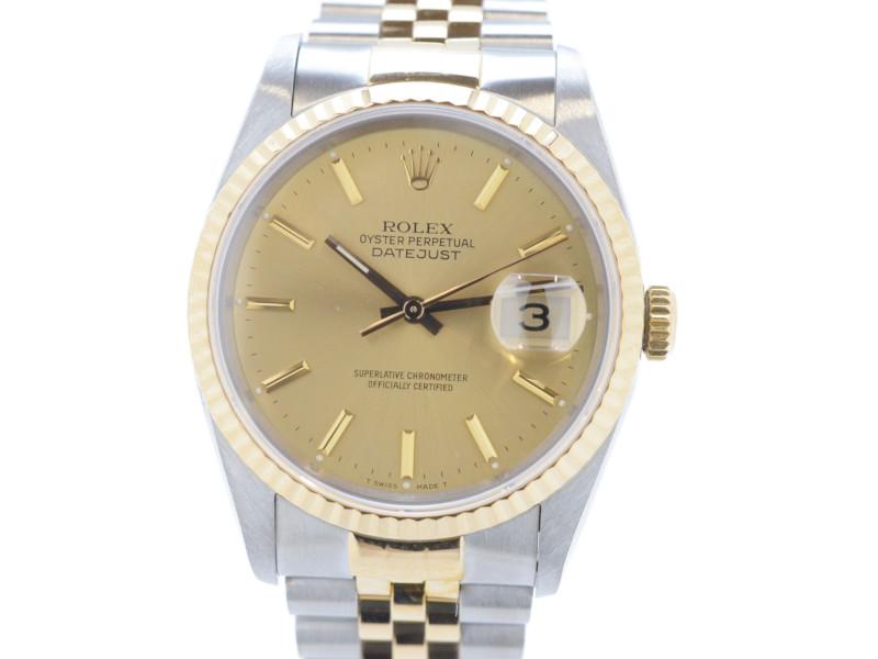【ROLEX】 ロレックス デイトジャスト 16233 L番 メンズ 腕時計 自動巻き 【中古】 【送料無料】