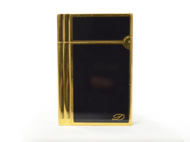 S.T.Dupont デュポン GATSBY ギャッツビー ガスライター ブラック/ゴールド フリント付き メンズ 【中古】