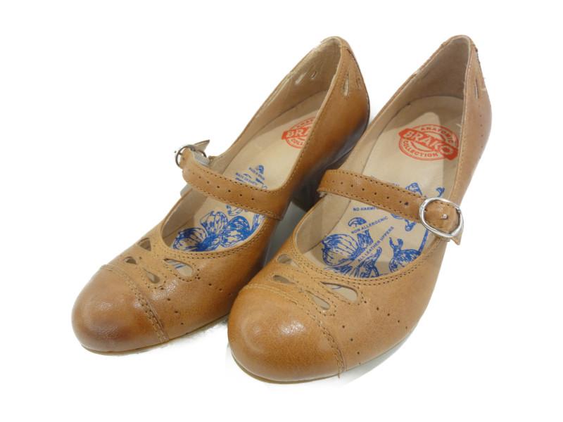BRAKO ブラコ パンプス レディース 靴 キャメル 36 23.0cm 未使用 6910 【中古】