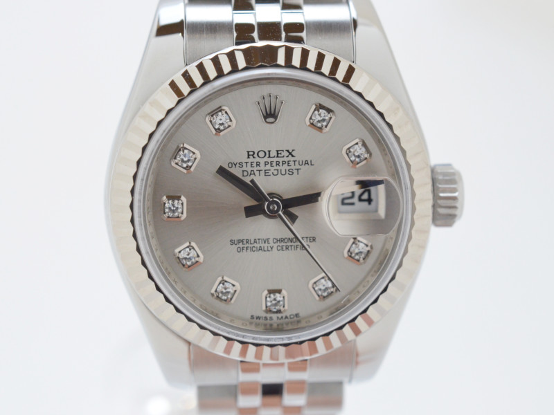 ROLEX ロレックス 179174 ランダム番 デイトジャスト 10Pダイヤ レディース時計 自動巻 【中古】