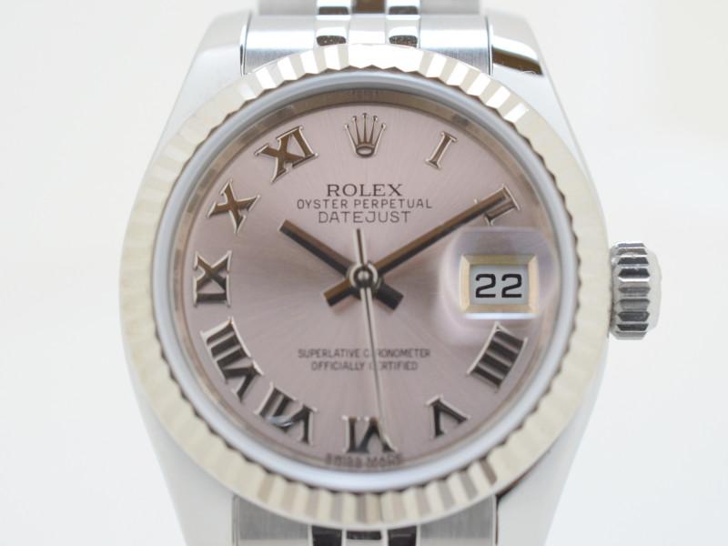 ROLEX ロレックス 高級時計 179174  ランダム番 デイトジャスト ピンクローマン 自動巻き レディース時計 【中古】