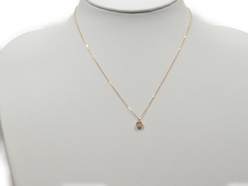 K18 ダイヤ ミルネックレス ジュエリー レディース ダイヤモンド 0.216ct ゴールド ホワイト 40cm 【中古】送料無料