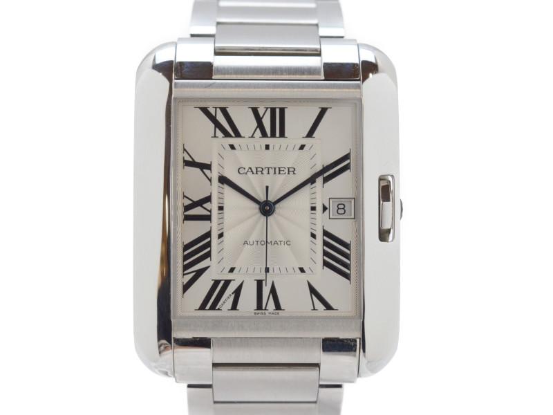 【CARTIER】 カルティエ タンク アングレーズ XL W5310008 オートマチック 自動巻き メンズ 腕時計 【中古】