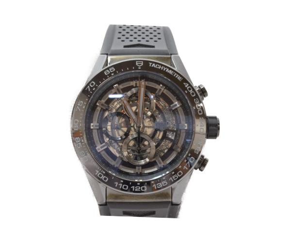 TAG-HEURE タグホイヤー CAR2A90 カレラ ブラックセラミック メンズ 自動巻き セラミック 腕時計 【中古】