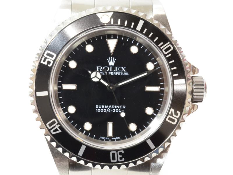 ROLEX ロレックス 14060 サブマリーナ ノンデイト 自動巻き時計 A番 フルコマ メンズ 【中古】