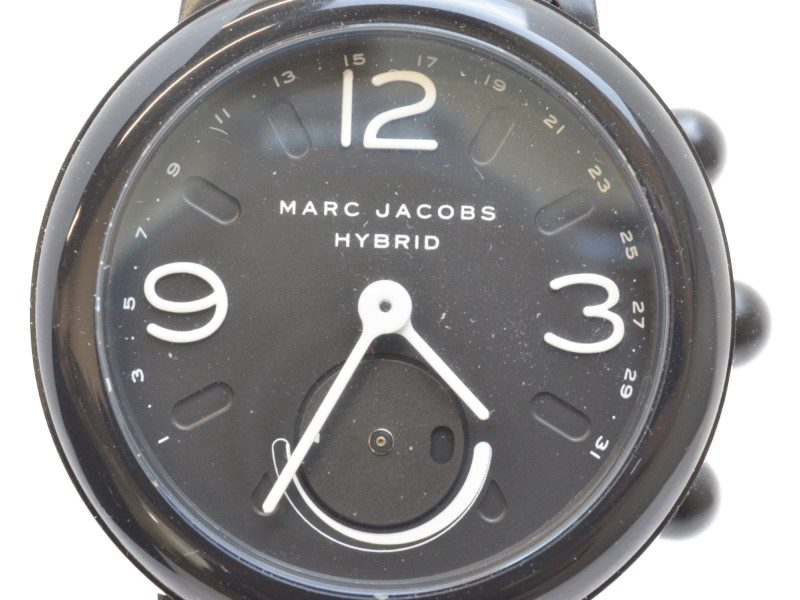 MARC JACOBS マークジェイコブス MJT1002 ハイブリッド スマートウオッチ ブラック 黒 レディース メンズ 男女兼用 【中古】