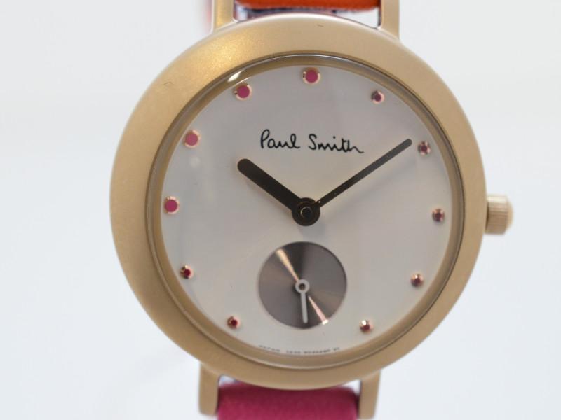 PaulSmith ポールスミス 腕時計 レディース BZ1-625-10 ピンク×オレンジ クォーツ 【中古】