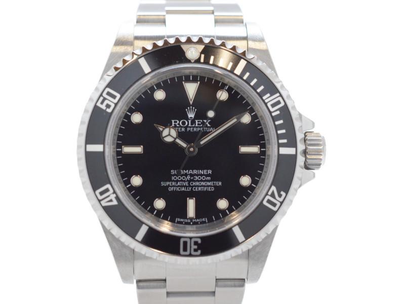 ROLEX ロレックス 14060M サブマリーナ ノンデイト V番 2008~2009年頃製造 黒文字盤 黒サブ メンズ 腕時計 自動巻き 【中古】