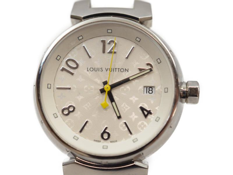 LOUIS VUITTON ルイヴィトン Q1313 タンブール モノグラムホワイト ホログラム ラバーベルトM ホワイト レディース クオーツ時計ALRj54