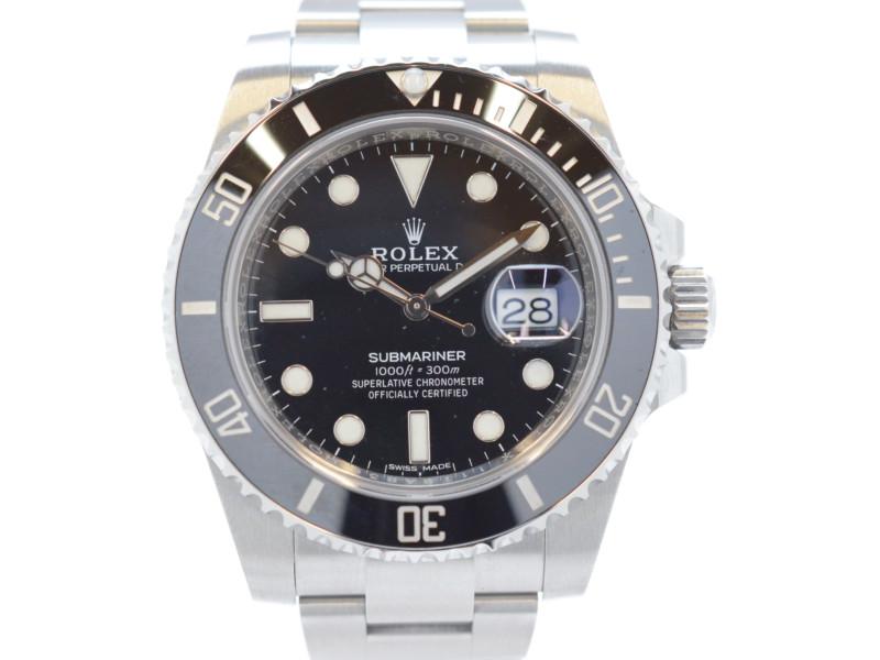 【ROLEX】 ロレックス サブマリーナデイト 自動巻き 機械式 メンズ腕時計 116610LN ランダム番(ギャラ2017年記載アリ)【中古】