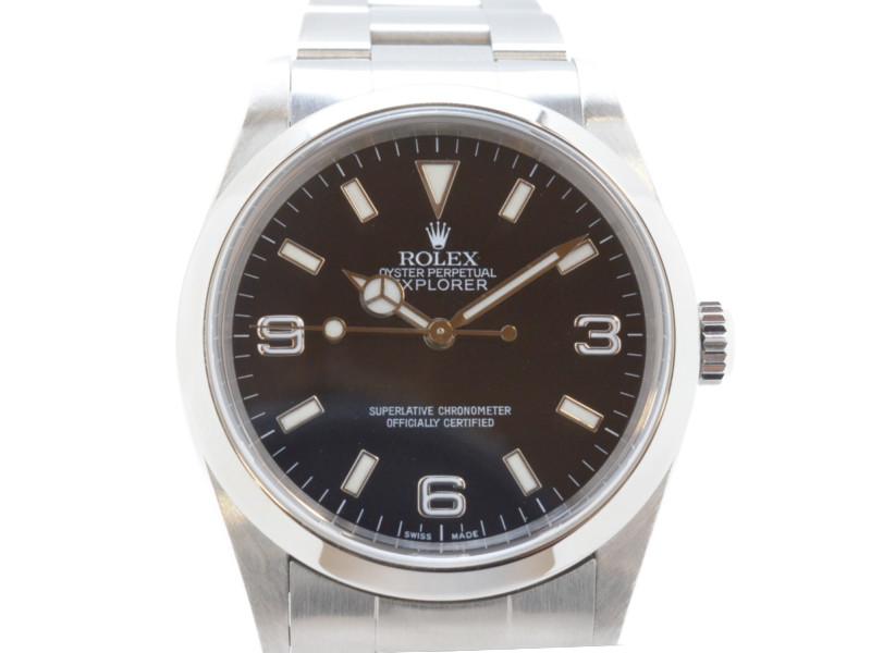 ROLEX ロレックス 14270 エクスプローラー1 P番 2000年頃 黒文字盤 ステンレスベルト 自動巻き OH・仕上げ済み メンズ 腕時計 高級時計 【中古】