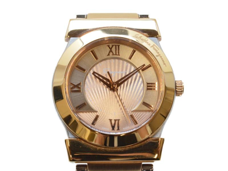 Salvatore Ferragamo サルヴァトーレ・フェラガモ FIQ040016 ベガ ブロンズ クオーツ時計 レディース 腕時計 【中古】