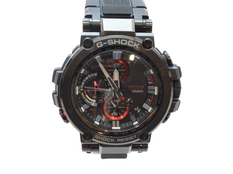 CASIO カシオ G-SHOCK MTG-B1000 G-ショック MT-G ソーラー電波時計 ブラック クロノグラフ ブラック/レッド メンズ 腕時計 【中古】