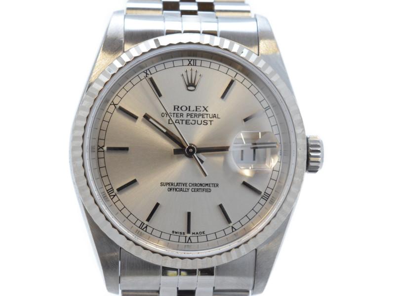 ROLEX ロレックス デイトジャスト 16234  F番(2003~04年頃製造) シルバー文字盤 自動巻き時計 メンズ 付属品あり【中古】【送料無料】